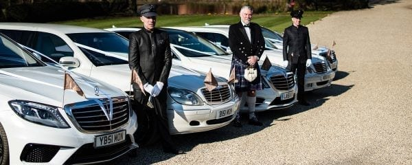 Wedding car fleet in Essex