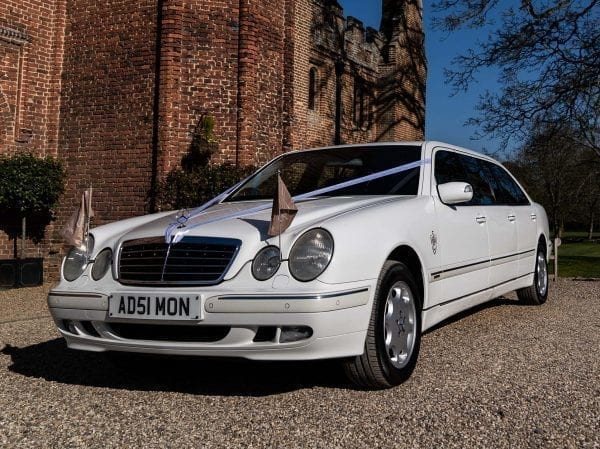 E Class Limo wedding car hire in Hertfordshire