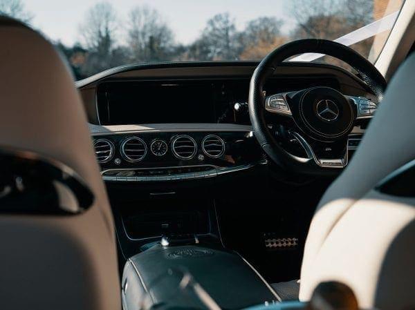 Inside Wedding Car Essex