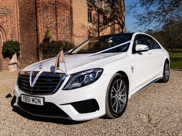 White Wedding Car Essex