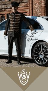 Luxury wedding chauffeur
