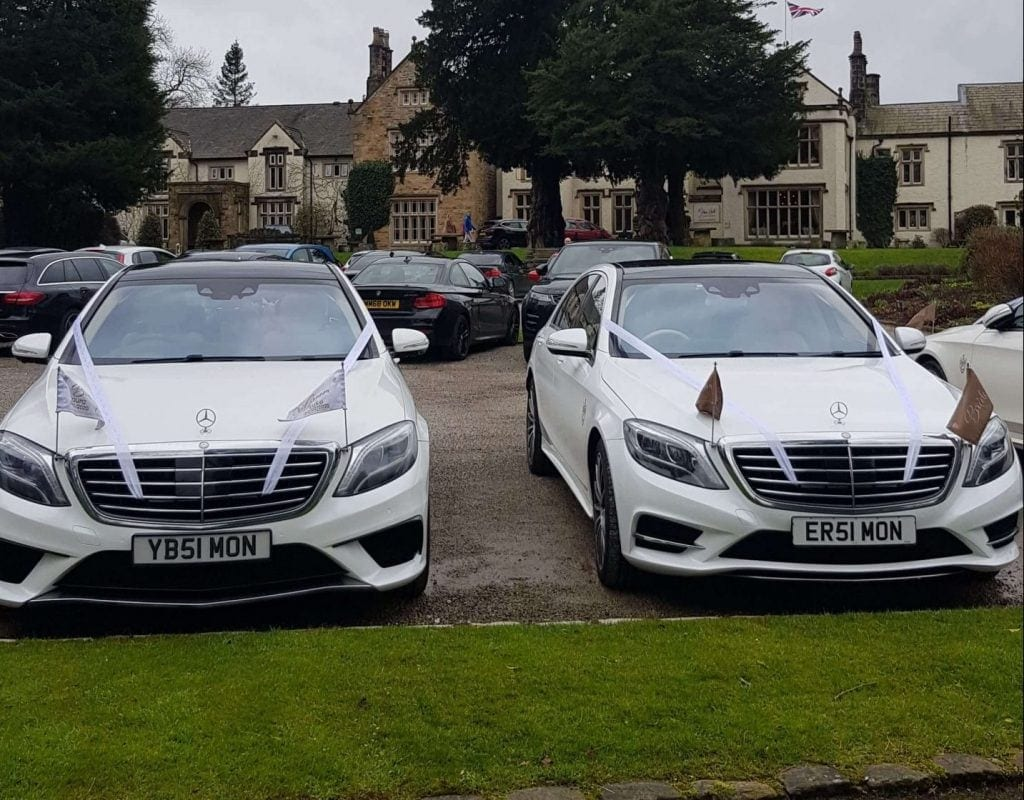 Mercedes S class wedding limos for hire