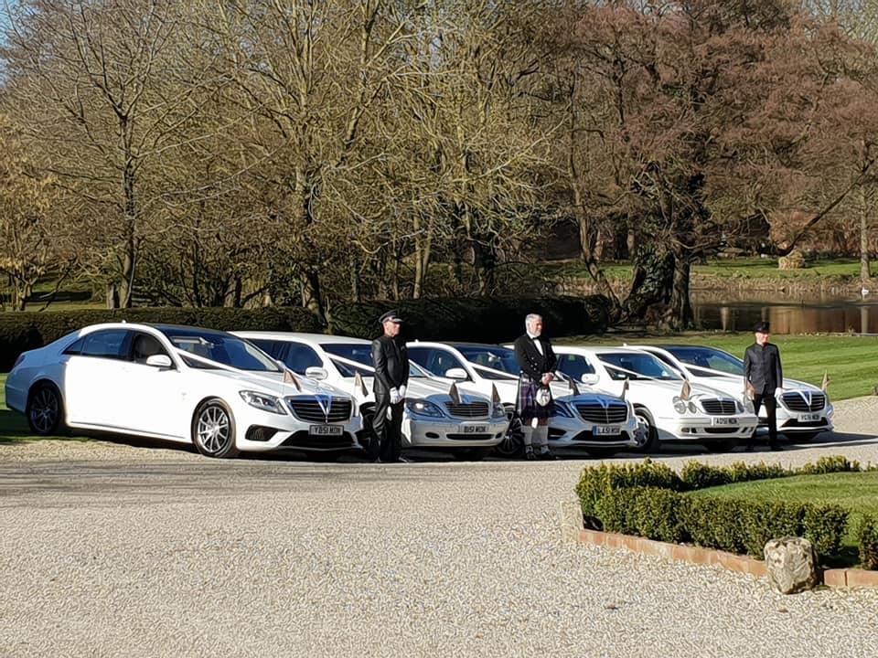 Wedding car hire fleet in Hertfordshire
