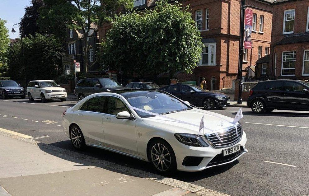 Chauffeured London wedding car