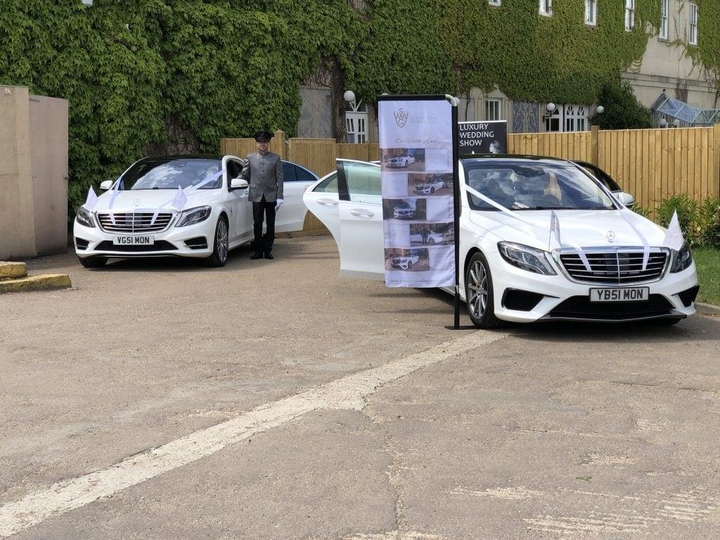 Wedding cars at Down Hall Hertfordshire