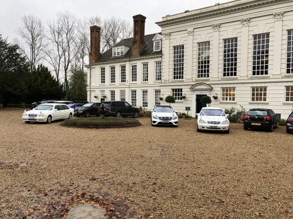 Essex wedding cars at Gosfield Hall Braintree.