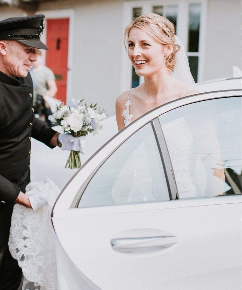 Professional wedding chauffeur