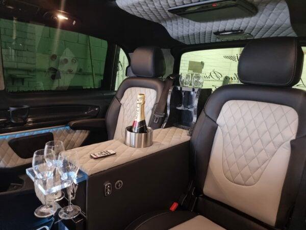 Chauffeured wedding vehicle