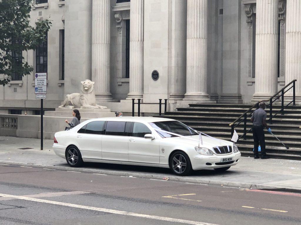 Wedding car for groom